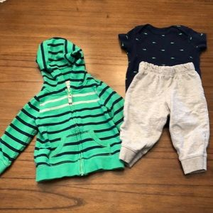 Carter's Matching Sets - Carter's Infant Boys 3 Piece Set - 9 months